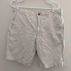 Gap Shorts Pants Men Size 32 Khaki Tan Linen Blend